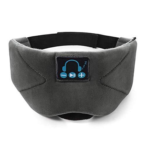 Bluetooth Eye Mask, Bluetooth 5.0 Wireless Music Sleeping Eye Mask wasbaar met geïntegreerde luidsprekers, gesprekken handsfree spreken, reizen en slapen