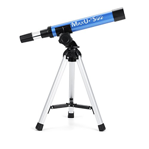 MaxUSee Refractor Telescope for Kids, Portable Telescope with 30X Power for Beginner, Travel Telescope with Tabletop Tripod