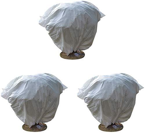 Aobp Pflanzen-Frostschutzhülle Frostschutzbeutel Pflanzen-Abdeckung wiederverwendbar Winterschutz Kübelpflanzensack für Garten Winterschutz Saisonverlängerung (60 x 80cm) 3 Packs