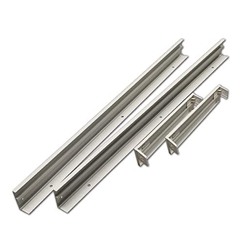 Soporte de Superficie para convertir Panel slim 120x30 cm. Aluminio lacado blanco. Kit para Techos. Convertir panel led empotrar en superficie facilmente.