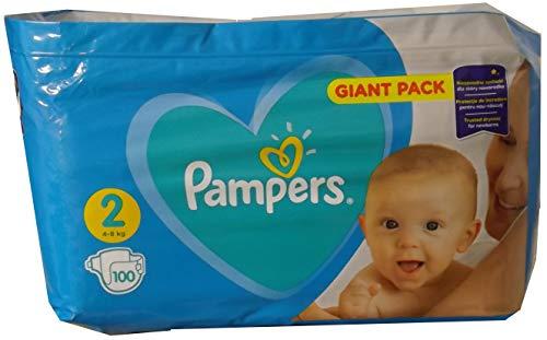NEU 100 Pampers Windeln NEWBORNS Gr. 2, 4-8 Kg, Baumwolle weich und mit absorbierenten Micro Pearls