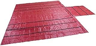 Mytee Products Trucking Flatbed Trailer Tarps Heavy Duty 18oz Lumber Tarp 24x27 (8' Drop) - Red