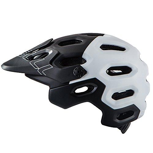 Cairbull Supercross Super Lightweight Caschi per Bici 54-58cm Bicicletta Casco Mountain Cycling Casco Opaco Nero Lucido per Orange (Bianca, S/M)