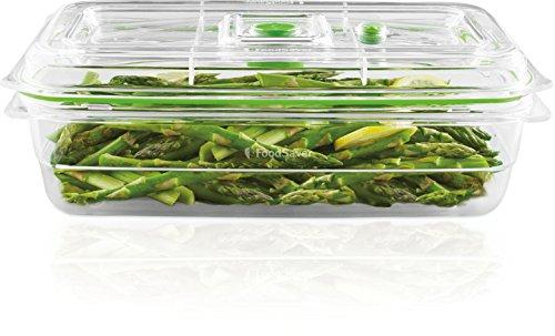 Foodsaver FFC010X Recipiente para envasar al vacío, 2,3 L, 2.3 litros, 0 Decibelios, Plástico, Transparente y verde