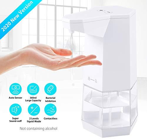 ELTD Rociador de Alcohol sin Contacto, dispensador Gel hidroalcoholico, rocío de inducción automático de Niebla de Alcohol (360 ml)