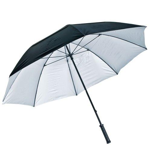 LONGRIDGE Regenschirm MIT UV-Schutz, SCHWARZ