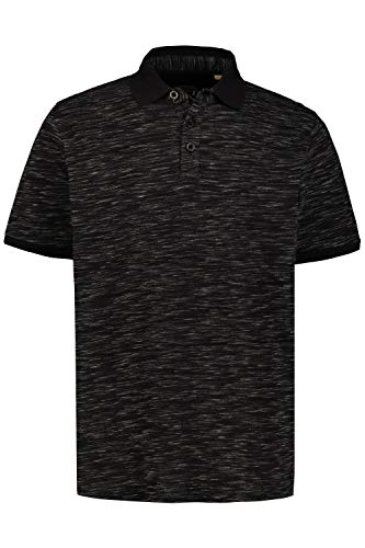 JP 1880 Herren große Größen Poloshirt schwarz 4XL 726739 10-4XL