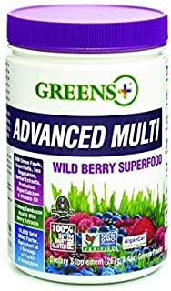 Greens+ Advanced Multi Wild Berry Superfood | Essential Blend of Raw Green Foods, Superfruits and Sea Vegetables Powder | ...