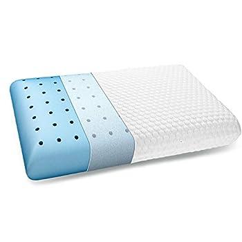 inight Memory Foam Pillow Soft Foam Pillow Supportive Pillow Ventilated Pillows for Sleeping Pillow Back Sleeper & Pillow Side Sleeper Oeko-TEX & CertiPUR-US - White