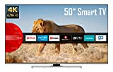 JVC LT-50VU8055 50 Zoll Fernseher (4K Ultra HD, HDR, Triple Tuner, Smart TV, Bluetooth, Works with Alexa) [Modelljahr 2021]