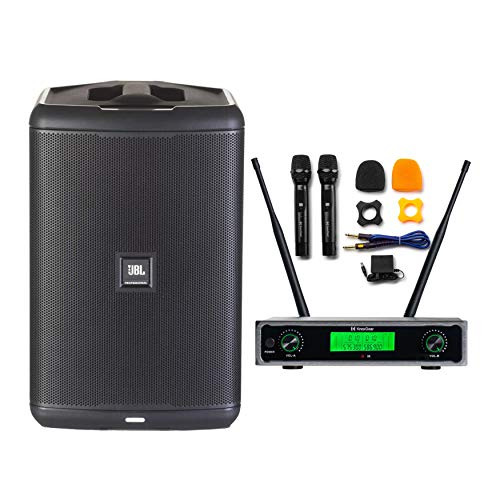 JBL Professional EON ONE Compact All-In-One Battery-Powered PA System w/Bluetooth Bundle w/Knox Wireless Mic System (2 Items)