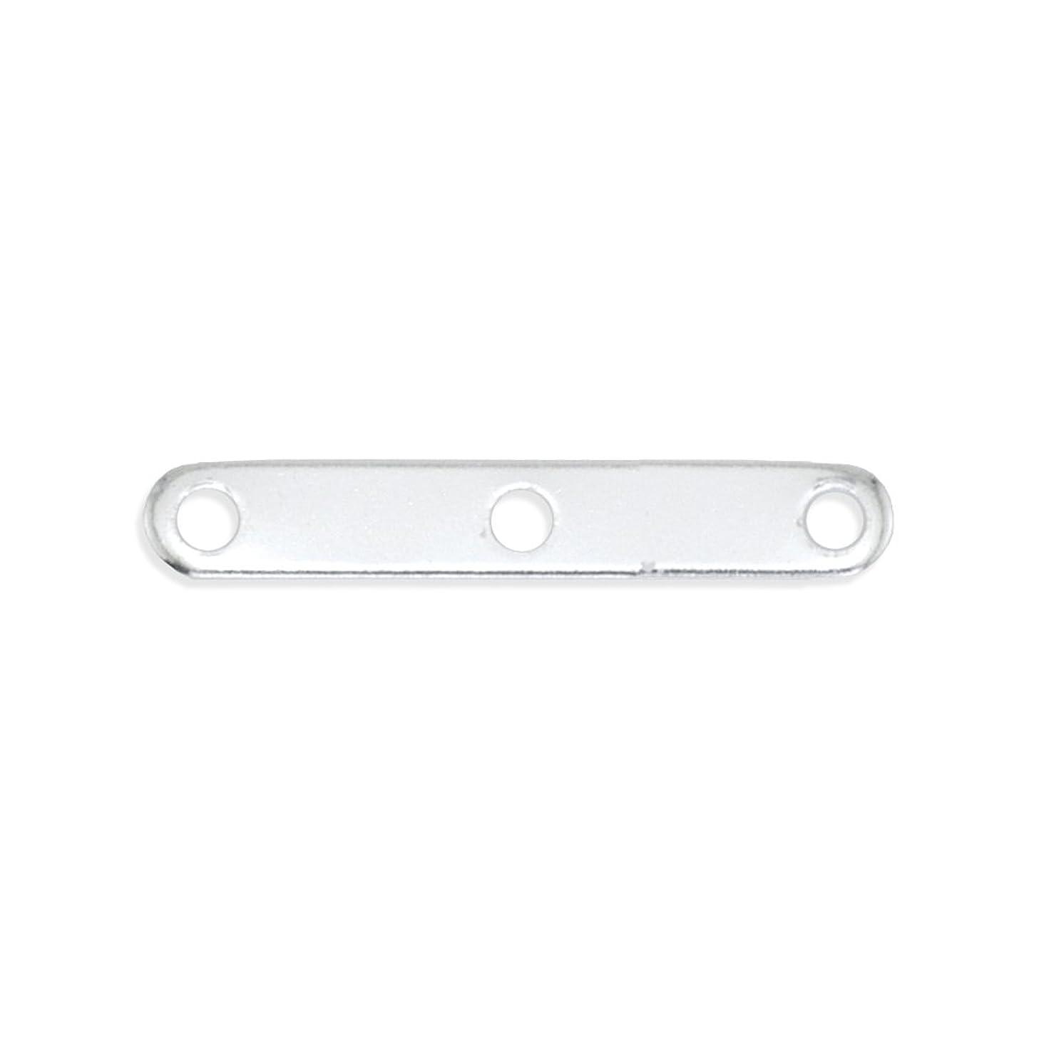 Beadalon W581 144-Piece 3-Hole Spacer Bar, Silver Plate