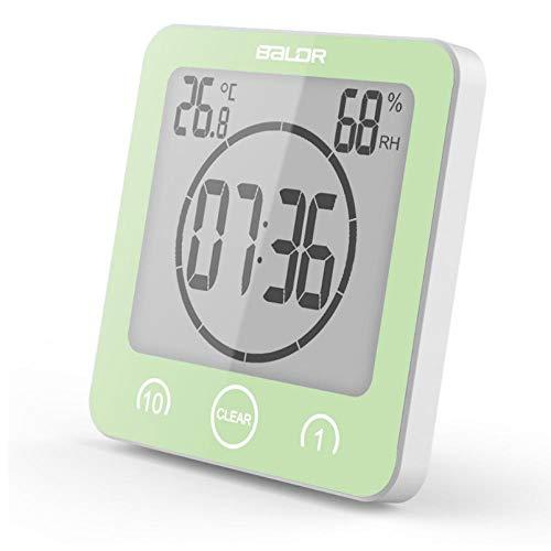 ZYZYY Kunststoff LCD Countdown Timer Digital Wanduhr Bad Uhr Wasserdicht Luftfeuchtigkeit Thermometer Saugnapf Wanduhr Nixie Uhr