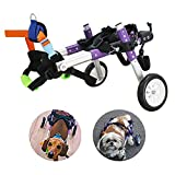 U/D HeoBam Dog Wheelchair - for Small Dog-Adjustable Dog Wheelchair for Hind Legs Rehabilitation (XS)