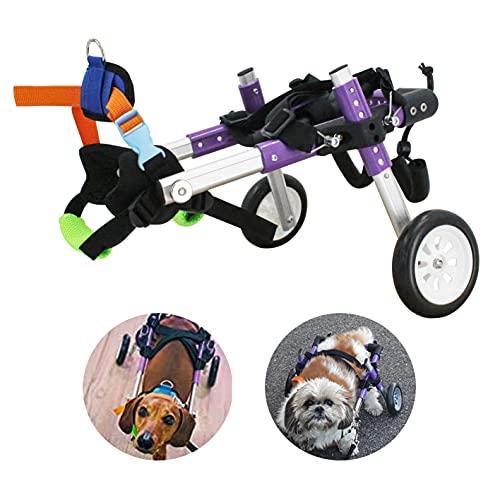 Dog Wheelchair - for Small Dog Adjustable Dog Wheelchair for Hind Legs Rehabilitation,Pet Rehabilitation Cart ,Handicap Wheels for Dogs(XS)
