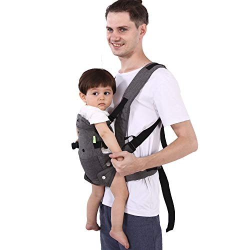 Xatan Baby Wrap Carrier,All in 1 Soft Carrier for Newborns and Child,Ergonomic Convertible Carrier with Adjustable Straps and Breathable Mesh
