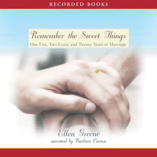 Remember the Sweet Things audiobook cover art