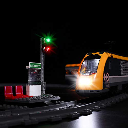 SESAY Juego de luces LED para tren Lego City, compatible con Lego 60197 (sin set Lego).