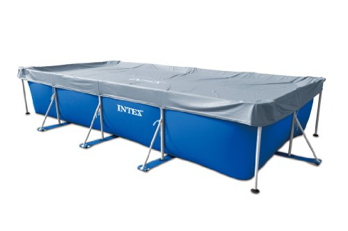Intex – Cubierta rectangular de protección para piscinas tubulares (ref: 58968), 4,50...