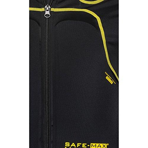 Safe Max® Protektorenjacke Motorrad Protektorenhemd Unterziehjacke mit Protektoren, Level 2, extrem funktional, Schulter-, Ellbogen- und Rückenprotektor, luftig, atmungsaktiv, Schwarz, XL - 4