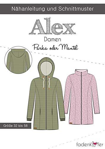 Schnittmuster Fadenkäfer Parka oder Mantel Alex Damen Gr.32-58 Papierschnittmuster