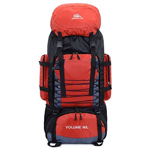 LIXONG Hiking Backpack, 90L Waterproof Travel Backpack Trekking Rucksack Mountaineering Backpack with Rain Cover for Men Women Outdoor Sport
