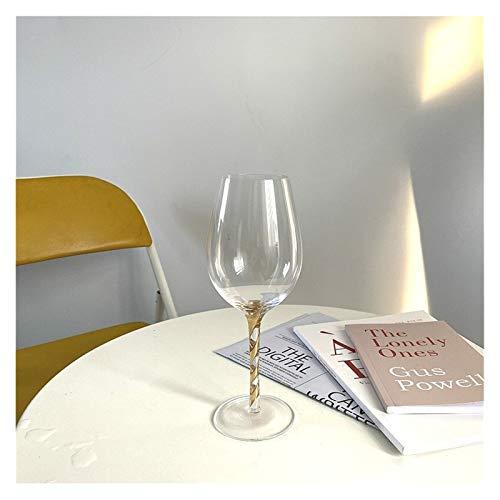 BENGKUI WUWENJIE 250-500ml Moda de Lujo asequible de Lujo de Cristal de Vino de Lujo de Lujo de Vidrio de Oro Copa de Copa roscada Copa de champán Taza Arte decoración de Vino (Color : Multi)