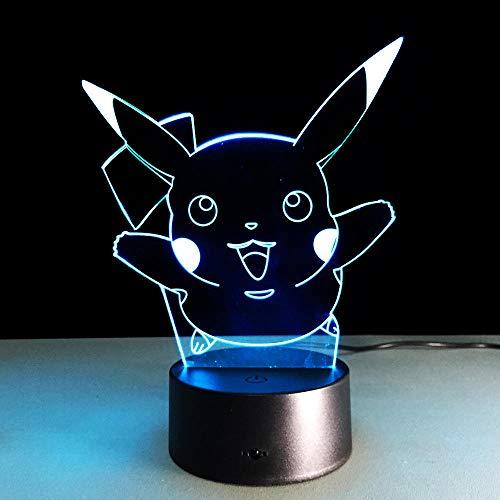 KINGBENG Monster Eve Isaman Squirrel Night Light Lampe de chevet colorée Famille Éclairage Décoration de l'atmosphère de Noël 16 couleurs Veilleuse 3D Illumination Illumination De Nuit Lumière Visuell