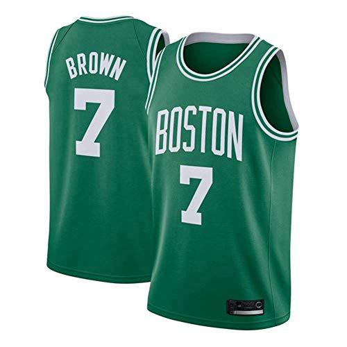Camiseta Para Hombre, Camiseta Transpirable De Baloncesto Jaylen Brown # 7 De Los Boston Celtics De La NBA, Uniforme De Ventilador De Tela De Malla Transpirable Fresca, Cómodo De Llevar,M(170~175CM)