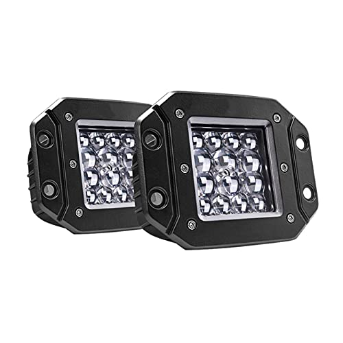 XIXI-Home 2 unids 5 Pulgadas 42W LED LED Barra de luz Spot Beam Driving Luces Impermeable Trabajo para EL Aplica FOURNIONAL Fijo Fail para camión ATV SUV 9-30V (Color : Black)