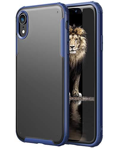 YATWIN Funda Compatible para iPhone XR, Carcasa Serie Anti Caídas, Flexible Bumper Rubber y Protección Anti-Choques Anti-Arañazos, Case Protectora Compatible para iPhone XR - Azul Oscuro