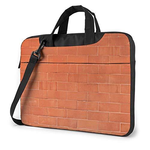 15.6 inch Laptop Shoulder Briefcase Messenger Brick Wall Texture Art Tablet Bussiness Carrying Handbag Case Sleeve