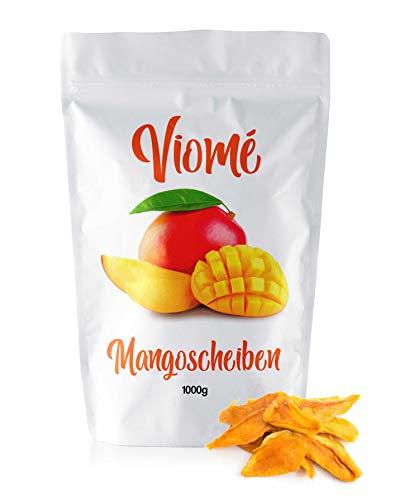 Viomé | getrocknete Mango, ungezuckert und ungeschwefelt, fruchtige Mangostreifen, 1kg
