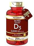 Vitamin D 2000iu | 200 Softgel Capsules | High Strength D3 | Bone