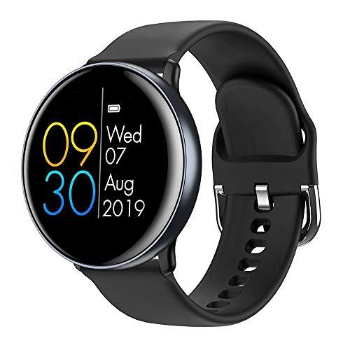 NUNGBE Smart Watch für iOS und Android, Armband Herzfrequenz Gürtel Schrittzähler wasserdicht Fitness Tracker Armband-Grau