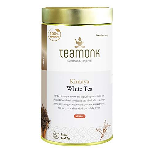 Teamonk Kimaya Imperial Himalayan White Tea Loose Leaf (75 Cups) | 100% Natural Tea | Powerful Antioxidant Tea Leaves | Tea for Relaxation | No Additives - 5.2 oz