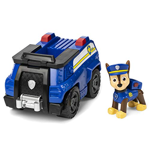 Paw Patrol Chase's Patrol Cruiser Vehicle with Collectible Figure, for Kids Aged 3 and Up