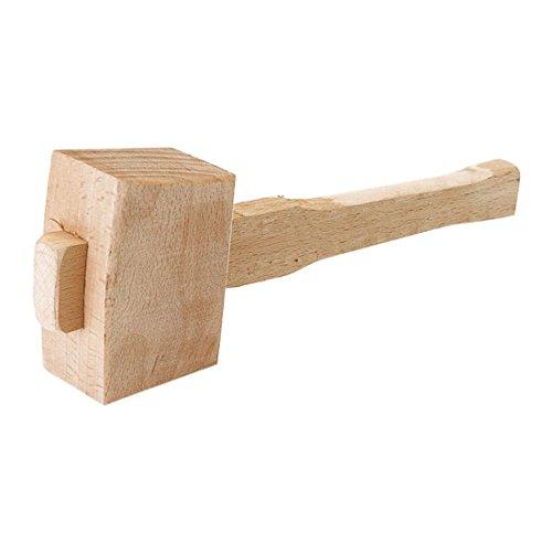 Sucute Martillo de madera de haya maciza, 250 mm, martillo de carpintero