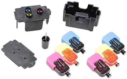EASY-REFILL Nachfüllset für CL-541 color (XL) Patronen - Befülladapter + 2 Füllungen Tinte/Farbe. Druckerpatronen ganz einfach selbst nachfüllen! Mit Video-Befüllanleitung in Youtube