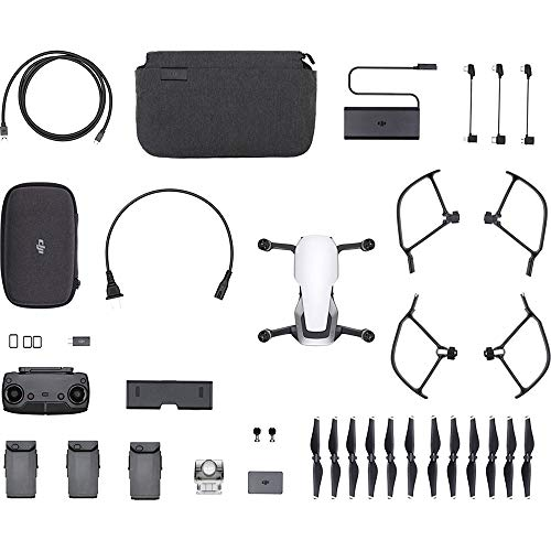 DJI CP.PT.00000165.01 Mavic Air Quadcopter Drone Arctic White Fly More Combo (Renewed)