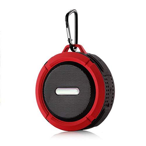 RuleaxAsi Alto-falante BT à prova d'água ao ar livre Alto-falante portátil sem fio com som estéreo 3D aprimorado Alto-falante de viagem para chuveiro com subwoofer Tempo de reprodução de 10 horas