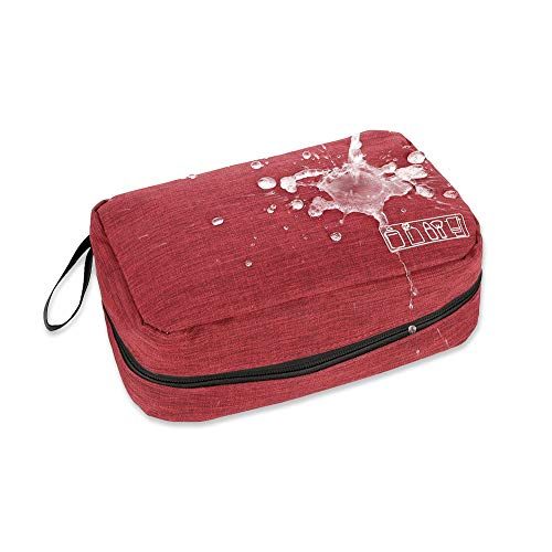 dgaf&bae Foldable Travel Toiletry Bag Makeup Toiletry Bag Cosmetic Bag for Women Girls Children Waterproof Wine red 25 cm