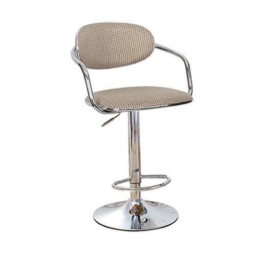 Huishoudelijke High Chair, rugleuning Creative Kassa Kruk Receptie Bar Draaien Outdoor Balkon Lounge Chair Kantelbare hoogte 60-80cm (Color : C)
