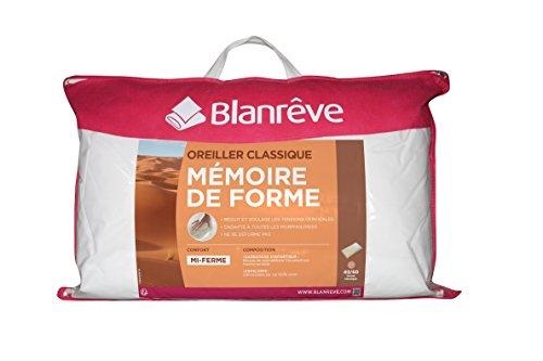 Blanrêve - Oreiller - mousse à mémoire de forme - bon maintien des cervicales - 40x60 cm