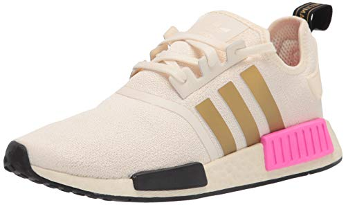 adidas Originals womens NMD_R1 Cream White/Gold Metallic/Screaming Pink 7