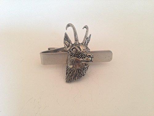 A50 Chamois/Gams (Saint-Gall) English Pewter emblème sur une pince à cravate 4 cm fait à la main à Sheffield Livré avec prideindetails Boîte Cadeau