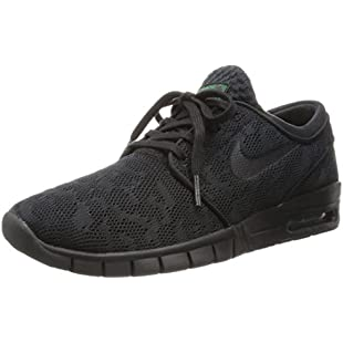 Nike Stefan Janoski Max Men's Skateboarding Shoes, Multicolored (Black/Black-Verde Pino), 6.5 UK (40.5 EU)