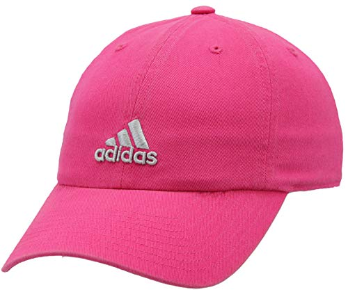 adidas Women's Saturday Cap, Shock Pink/Clear Grey, ONE SIZE