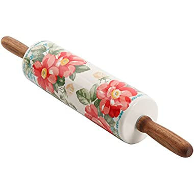 The Pioneer Woman Floral Rolling Pin 18.4 Stoneware Vintage Collection