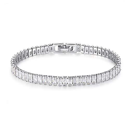 HMANE Pulsera de Plata esterlina Luxury Princess 925 Esclava para joyería Mujeres